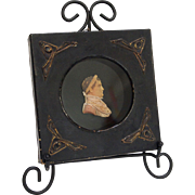 Rare Regency Period Caesar Wax Portrait Miniature