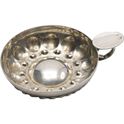19th Century French Silver-Plated Wine Taster