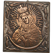 Lithuanian Virgin Mary Vintage Icon