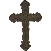 Vintage Cast Iron Aged Crucifix