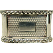 English Sterling Silver Engine Turned Napkin Ring by Mappin & Webb Ltd
