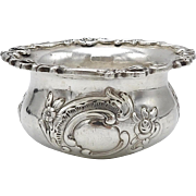 Hanau British Import Sterling Silver Salt Cellar