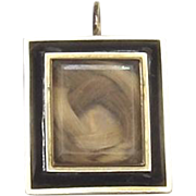 Victorian Mourning Locket with Eternal Hair Knot