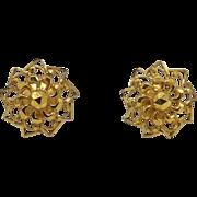 22KT Yellow Gold Delicate Mandala Earrings