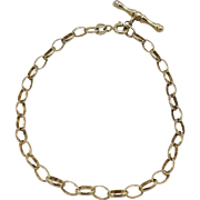 Vintage British 9KT Yellow Gold Bracelet