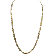 Victorian Lozenge 14KT Yellow Gold Chain