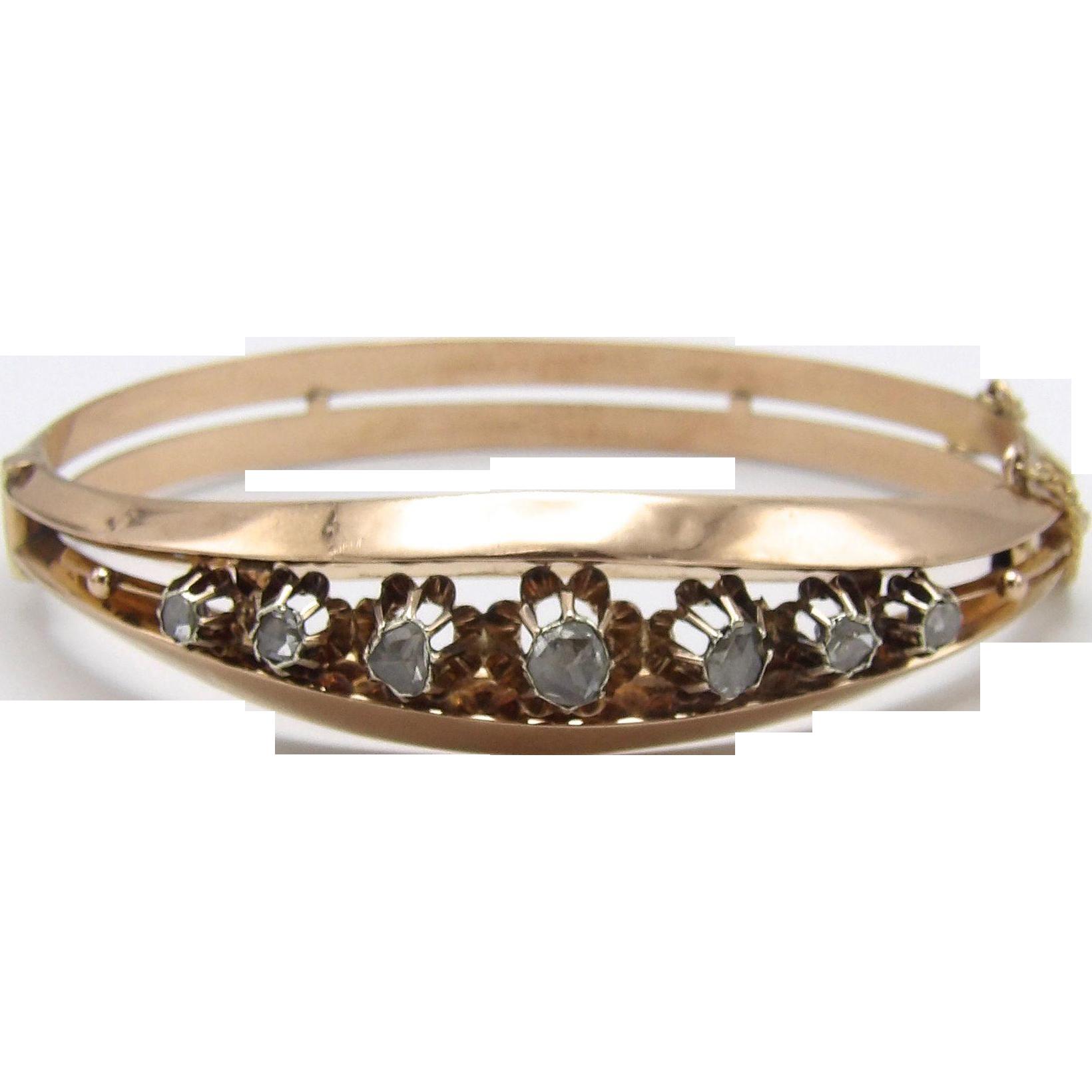 14KT Rose Gold & Diamond Bracelet