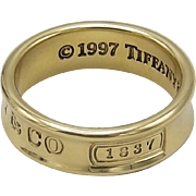 Tiffany & Co 1837- 18K Yellow Gold Ring
