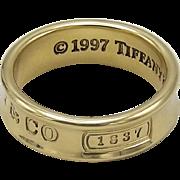 Tiffany & Co 1837- 18K Yellow Gold Ring