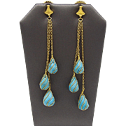24KT Gold & Turquoise Yaakov Hillel Earrings