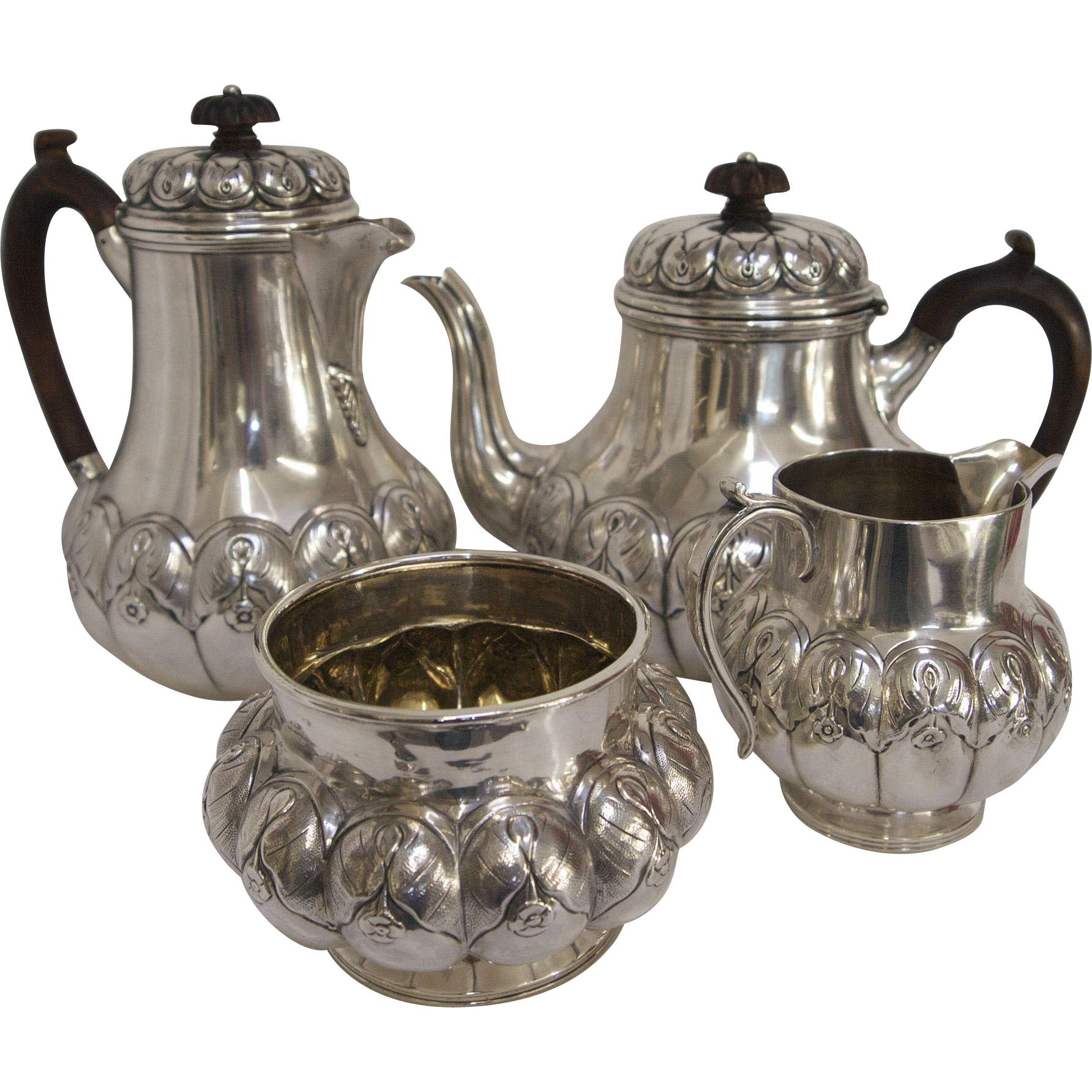 how to clean sterling silver tea service