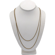 Elegant Long Victorian 9KT Gold Chain