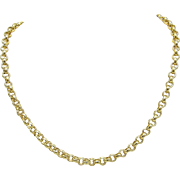 18KT Yellow Gold Plated Belcher Link Chain