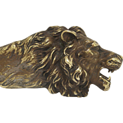VIntage Bronze Cast Lion Head Letter Opener