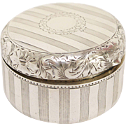 Charming  Sterling Silver Pill Box