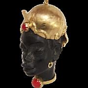 18 Karat Gold Blackamoor Corletto Charm