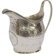 Antique English Georgian Sterling Silver Creamer