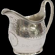 Antique English Georgian Sterling Silver Creamer