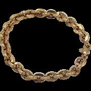 Victorian 14KT Gold Chain Link Bracelet