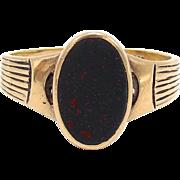 14KT Bloodstone Victorian Signet Ring