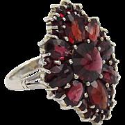 Bohemian Garnet Sterling Silver Ring
