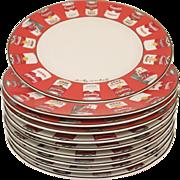 Vintage Campbell Soup Warhol 10 Dinner Plate Set