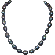 "17"" Single Strand of Baroque Tahitian Cultured Pearls"