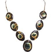 Victorian 9KT Rose Gold and Operculum Necklace