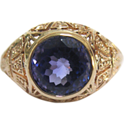 Spectacular Tanzanite 14k Yellow Gold Ring