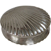 Dutch Silver (833) Shell-Shaped Pill Box, 1833