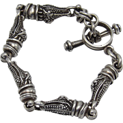 Kieselstein-Cord Sterling Silver Crocodile Bracelet