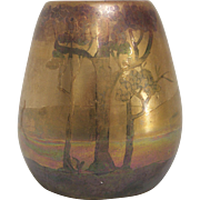 Weller-LaSa Lustre Ceramic Landscape Vase