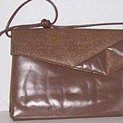 Brown Envelope Style Clutch Shoulder Bag Mint!