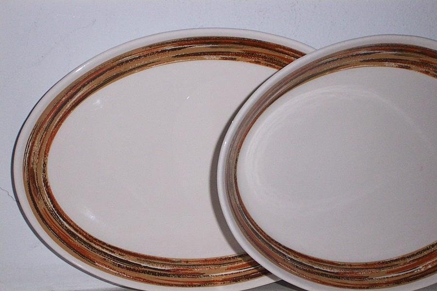 2 Syracuse China  12 1/2 inch Serving Platters Mint