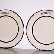 2 Borels Homer Laughlin China Dinner Plates FREE SHIP