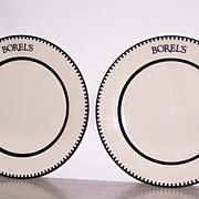 2 Borels Homer Laughlin China Dinner Plates FREE SHIP