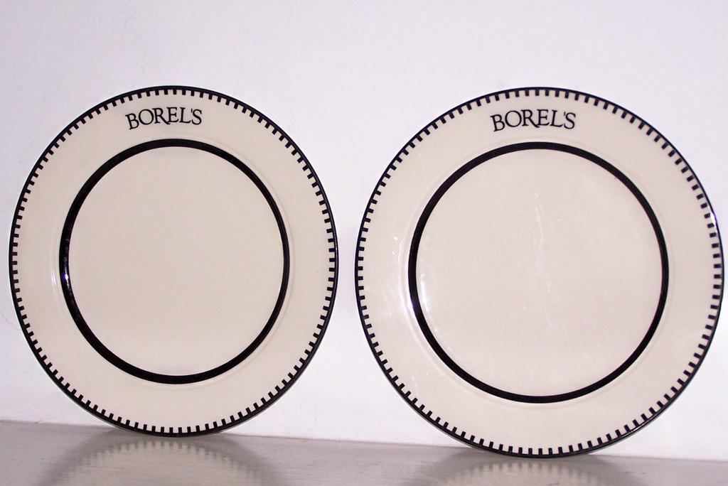 2 borels homer laughlin china dinner plates free ship - China Dinner Plates