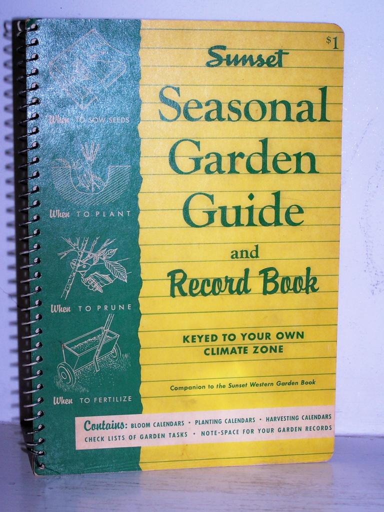 Kitchen Garden Book Sunset Garden Record Guide 1955 1st Edition From Kitchengarden On