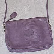 Etra genuine lizard reptile leather purse mint