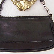 Coach Black Leather Demi Hobo Handbag