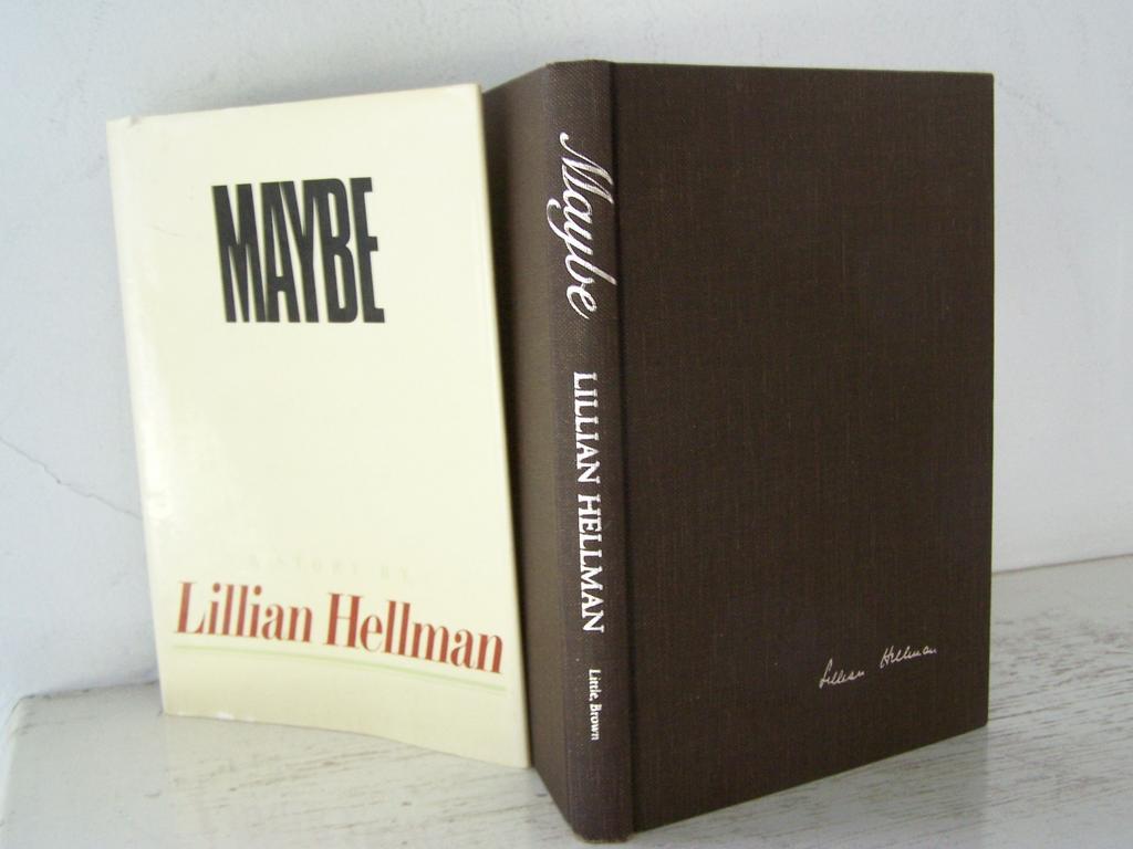 FREE Ship USA! Maybe Lillian Hellman 1st Edition 1980