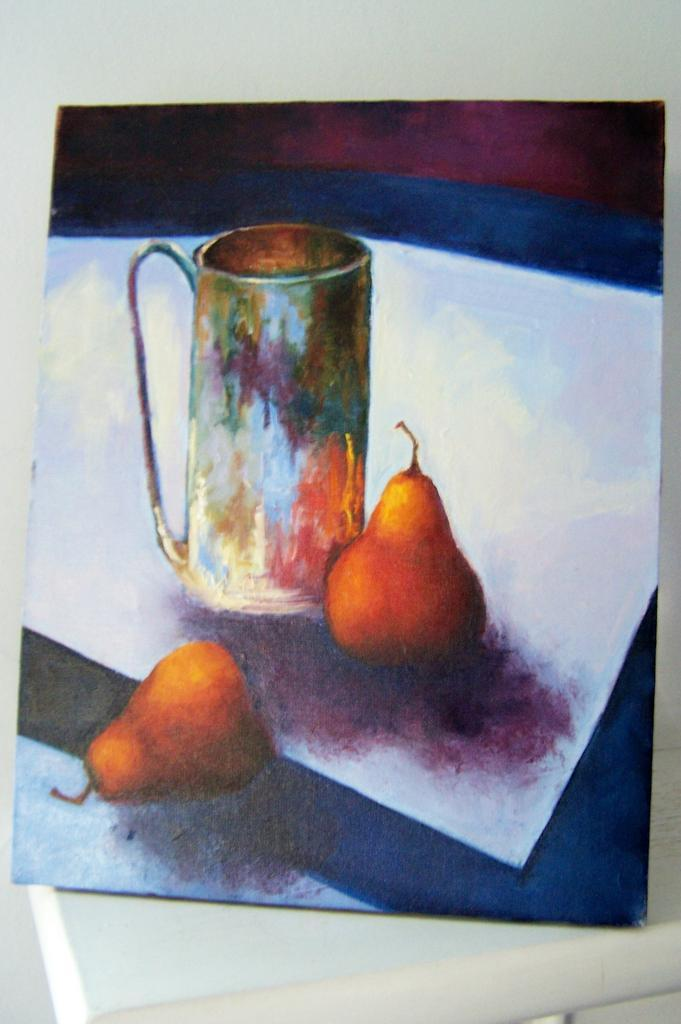 Original Acrylic Still Life Pears Signed by Trevelini