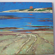 Signed Original Monterey California Oil Painting  24 inches by Ami Magill