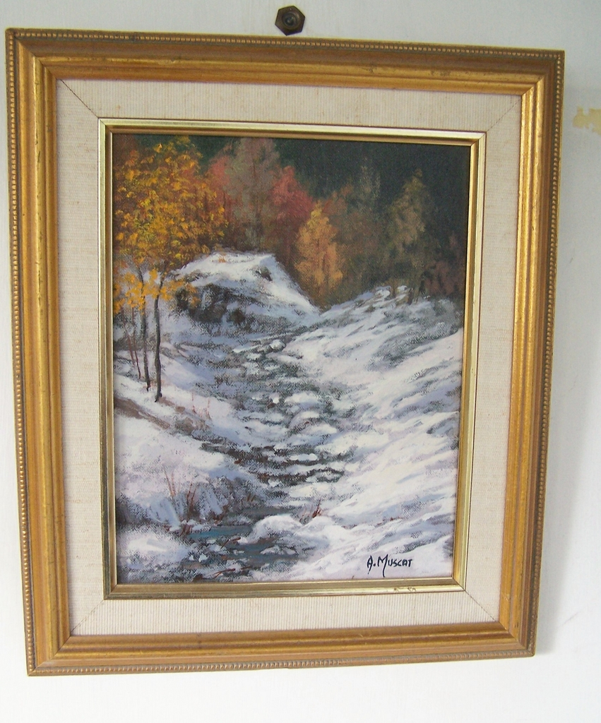 Autumn Winter Landscape by Muscat Signed original