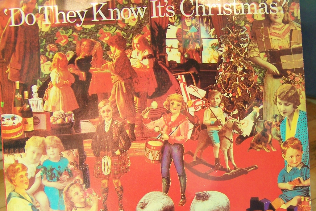 Do They Know It's Christmas Sting Paul McCartney Phil Collins  45 mint record