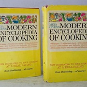SCARCE! Meta Given's 2 Volume Cookbooks  Hardback W' Dust Jackets