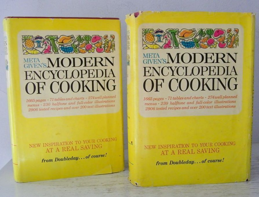 Meta Givens 2 Volume Cookbooks Hardback Dust Jackets