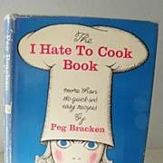 "1st Edition SIGNED by author ""I Hate To Cook Cook Book"""