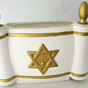 Leftons Star of David / Menorah planter / vase