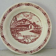 """Vernon"" California  Mission Souvenir Ashtray"